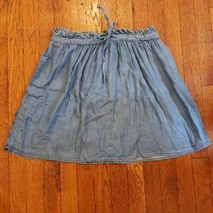 Topshop Chambray skirt